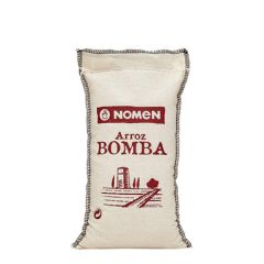 NOMEN Bomba Rice from Ebro Delta, Extra Quality, packed in cotton bag 500 g