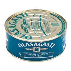 Olasagasti Cantabric Anchovies (Fillets) in EVOO 2.2 Lb (1 kg)