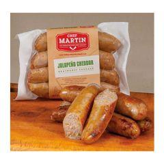 Chef Martin Jalapeno Cheddar Bratwurst Sausage 12 oz.