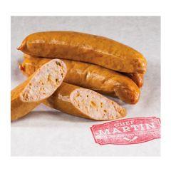 Chef Martin Jalapeno Cheddar Bratwurst Sausage. Pack 4 x 2.5 Lb.