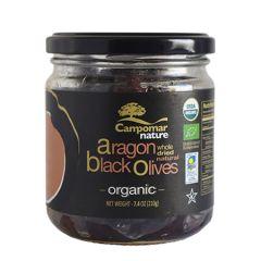 Campomar Nature Organic Dried black Aragon olives 350 gr (12.34 Oz)
