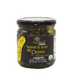 Campomar Nature Organic sweet & Sour Dill Pickles