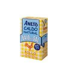ANETO 100% Natural low sodium chicken Broth 1 L/33.83 Fl.Oz