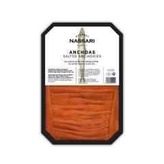 Nassari Gourmet Salted Anchovies in EVOO 250 g (8.81 oz).