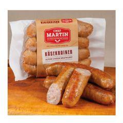 Chef Martin Kasenkrainer Alpine Cheese Bratwurst  Sausage 12 oz