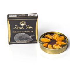 Ramon Pena Gold Mussels in Pickled Sauce (8/10) 110g (3.88 Oz)